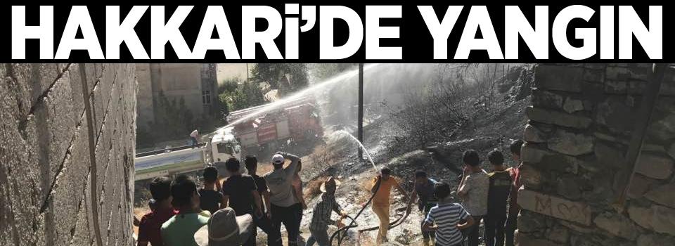 Hakkari'de boş arazide yangın
