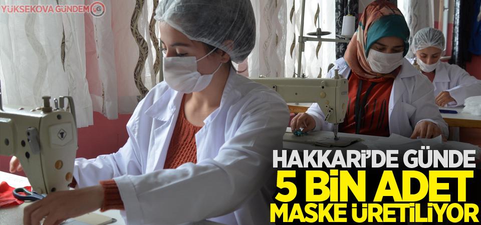 Hakkari'de günde 5 bin adet maske üretiliyor
