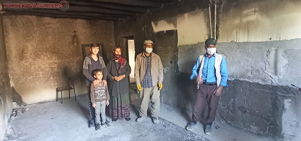 7 nüfuslu Kılıç ailesinin evi tamamen yandı
