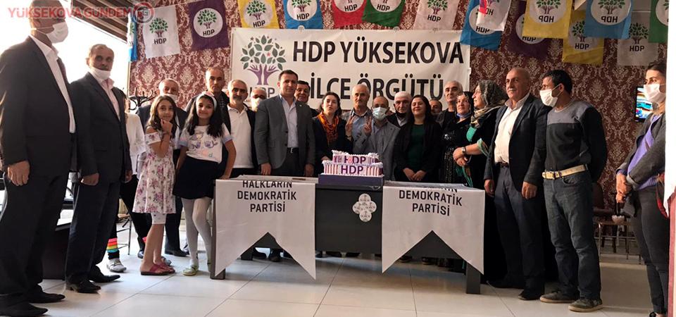 Yüksekova'da HDP'nin 8. Kuruluş Yıl Dönümü Kutlandı
