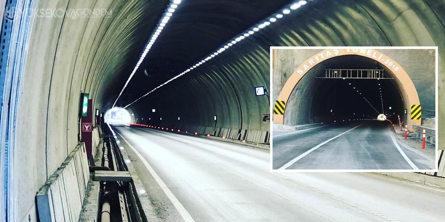 Yüksekova Sarıtaş tünelinde ışıklandırma çalışmaları tamamlandı