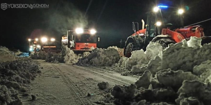 Şırnak-Hakkari yolunda karla mücadele sürüyor