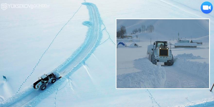 Yüksekova'da kapalı köy yolları açılıyor