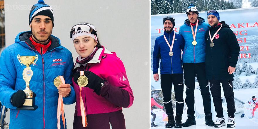 Yüksekovalı kayakçı Türkiye Birincisi oldu