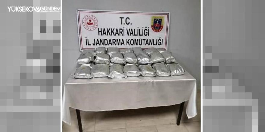 Yüksekova'da 35 kilo eroin ele geçirildi