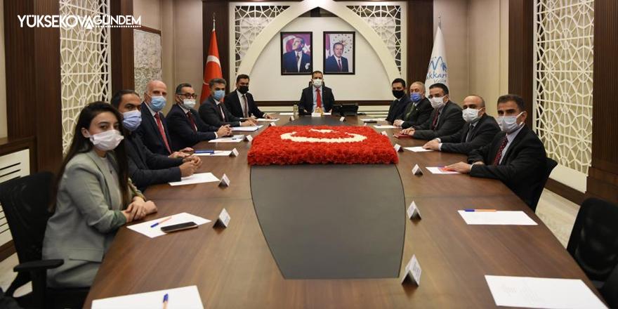 Hakkari'de, Yüksekova Organize Sanayi Bölgesi toplantısı yapıldı