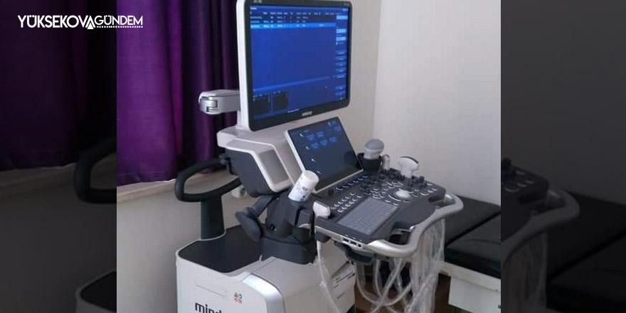 Şemdinli Devlet Hastanesine yeni ultrason cihazı alındı