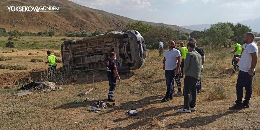 Yüksekova'da feci kaza: 1 ölü, 3 yaralı