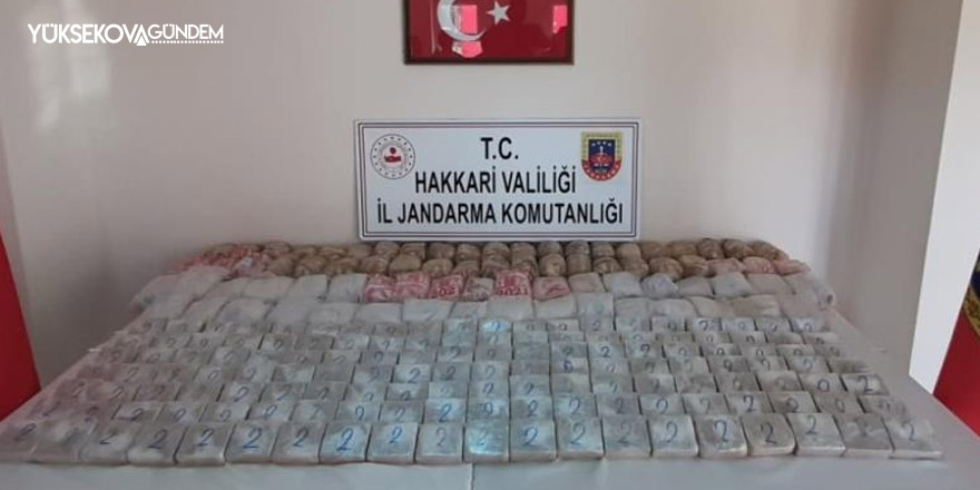 Yüksekova'da 160 kilo eroin ele geçirildi