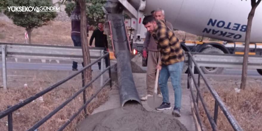 Öğrencilerin kullandığı merdivenler onarıldı