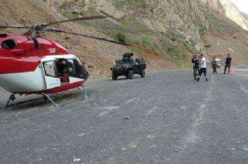 Hakkari'de ambulans helikopter zorunlu iniş yaptı