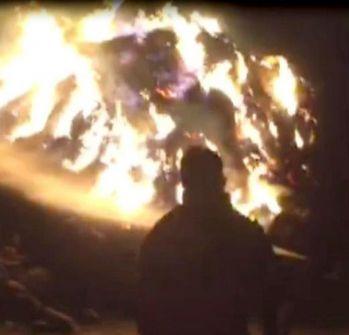 Gürpınar'da ot yangını