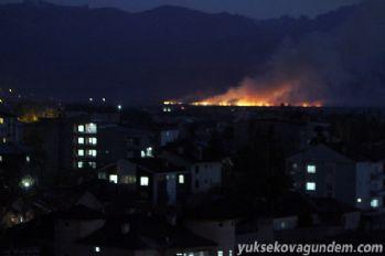 Yüksekova Nehil sazlığında yangın