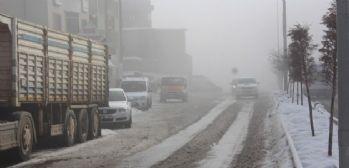 Yüksekova'da yoğun sis yaşanıyor