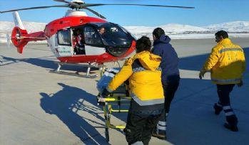 Bingöl'de 4 hasta helikopterle hastaneye ulaştırıldı