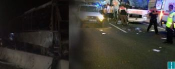 Otobüs alev aldı 2 kişi öldü