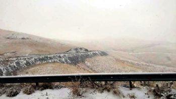 Van-Gürpınar'a kar yağdı