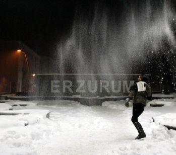 Erzurum buz kesti!