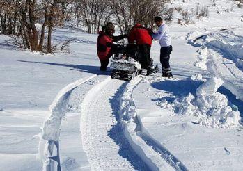 Kar motoruyla hasta kurtarma operasyonu