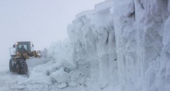 Muş'ta kar kalınlığı 5 metreyi geçti