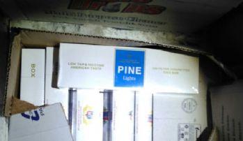 2 bin 340 paket kaçak sigara ele geçirildi