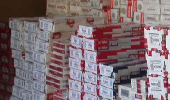 Bin 310 paket kaçak sigara ele geçirildi