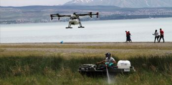 Van'da insansız hava aracıyla sivrisinek mücadelesi