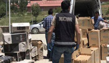 67 bin 500 paket kaçak sigara ele geçirildi