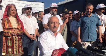 Kılıçdaroğlu, Adalet yürüyüşünün 17'nci gününe başladı