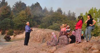 Orman yangını nedeniyle köy boşaltıldı