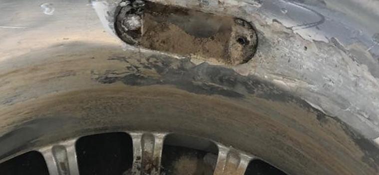 Aracın jantlarının içerisinde bakın ne bulundu