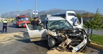 Manisa'da trafik kazası: 6 yaralı!