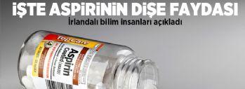 Aspirin diş çürüklerine iyi geliyor!