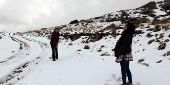 Kar kalınlığı 5 santimetreyi buldu