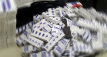 10 bin 120 paket kaçak sigara ele geçirildi