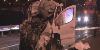 Kaza sonrası alev alan otomobilin sürücüsü hayatını kaybetti