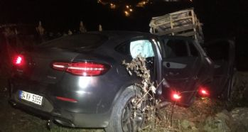 Otomobil uçuruma düştü; 1 yaralı
