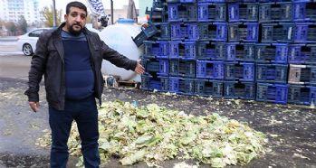 Kaşla göz arasında 3,5 ton lahana çaldılar