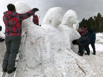 Kardan heykellerin yapımı başladı