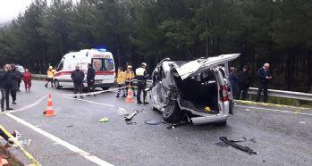 Trafik kazası: 3 ölü, 6 yaralı