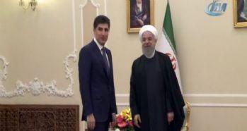 Barzani, Ruhani'yi ziyaret etti