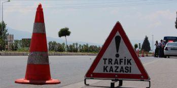 Van-Antalya seferini yapan otobüs kaza yaptı