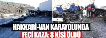 Hakkari-Van Karayolunda Feci Kaza: 8 Ölü