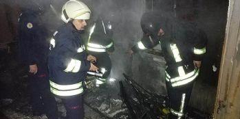Yangında 3 kişi hastanelik oldu