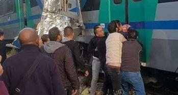 Tunus'ta iki tren çarpıştı: 1 ölü, 60 yaralı