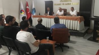 Yüksekova'da lokanta işleten esnafla toplantı yapıldı