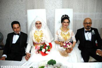 Yüksekova'da iki kardeş aynı gün evlendi