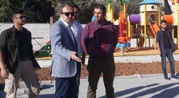 Başkan Epcim, park çalışmalarını denetledi