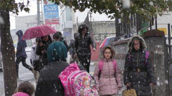 Ardahan'da kar yağışı etkili oldu
