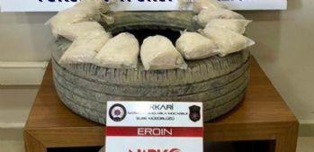 Yüksekova'da 6 kilo eroin ele geçirildi